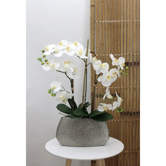 Orchidée blanche artificielle Ligne Déco