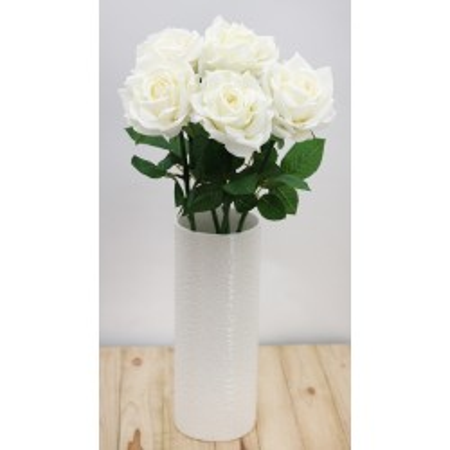 Tiges de roses blanches artificielles Ligne Déco